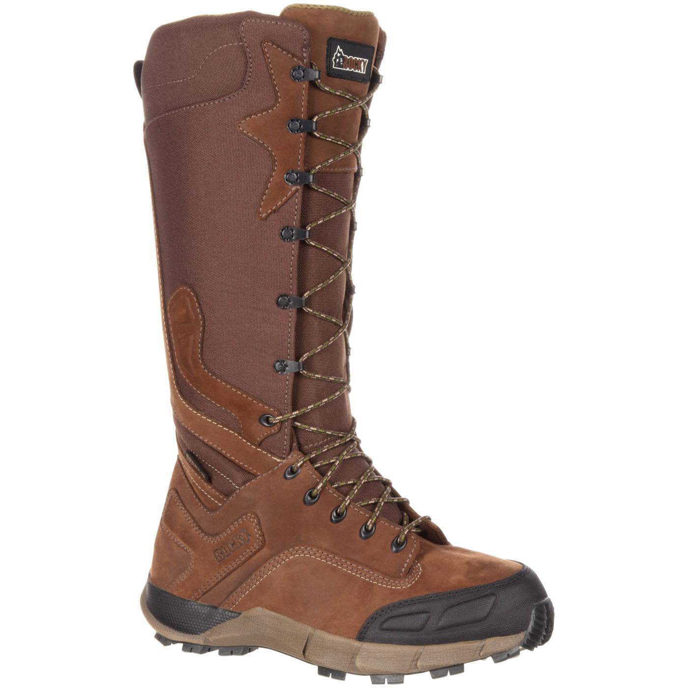 rocky broadhead men 39 s waterproof side zip brown snake boot. Black Bedroom Furniture Sets. Home Design Ideas