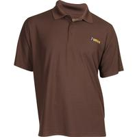 Rocky Logo Short-Sleeve Polo Shirt, BROWN, medium