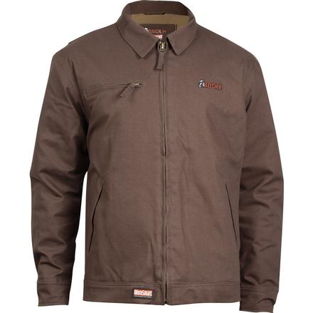 Rocky WorkSmart Waterproof Short Jacket, BROWN, large