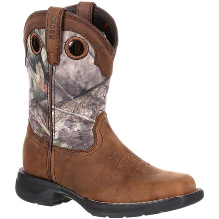 Rocky LT Big Kids' Waterproof Camo Western Boot, , large