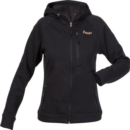 Rocky Women's Fleece Hooded Jacket, BLACK, large