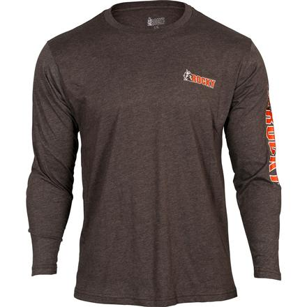 Rocky Logo Long-Sleeve T-Shirt, BROWN, large