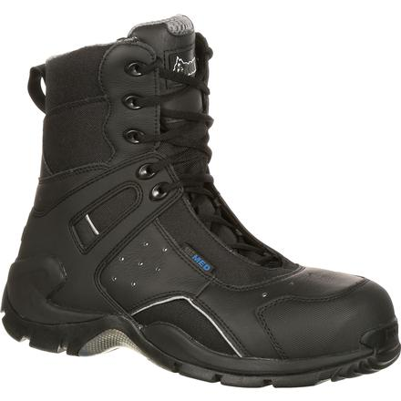 Rocky 1st Med Carbon Fiber Toe Puncture-Resistant Side-Zip Waterproof Duty Boot, , large