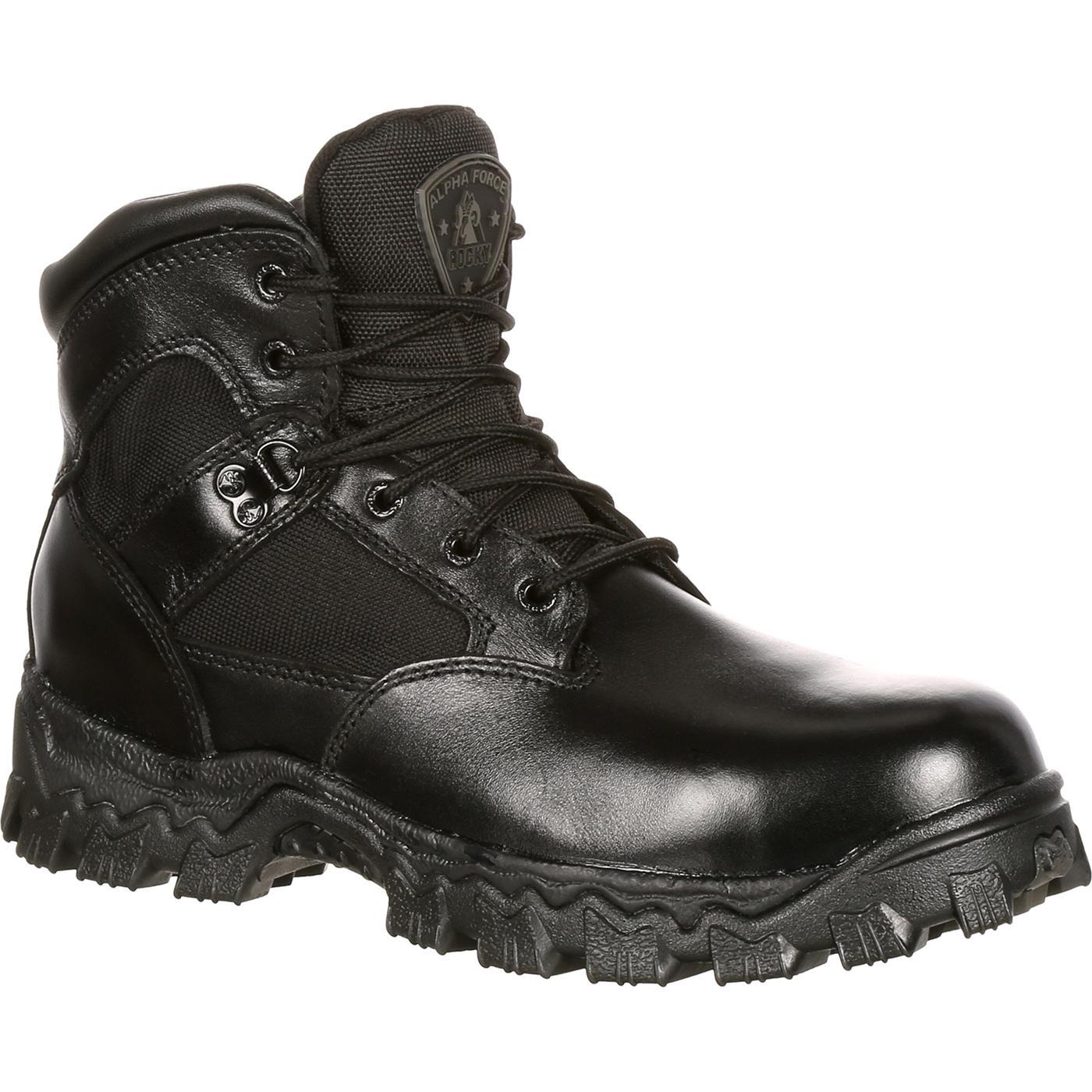 Rocky Men S 6 Quot Waterproof Black Duty Boots Style 2167