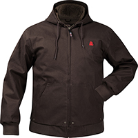 Rocky Waterproof Hooded Work Jacket, BLACK, medium
