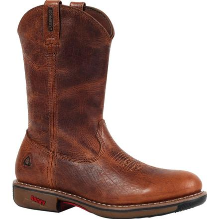 Rocky RIDE Steel Toe Waterproof Western Boot, , large