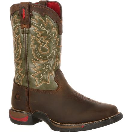 Rocky Little Kid Long Range Square Toe Western Boot, , large
