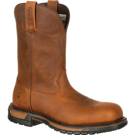 Rocky Original Ride Composite Toe Waterproof Roper Western Boot, , large