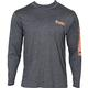 Rocky Logo Long-Sleeve T-Shirt, CHARCOAL, small