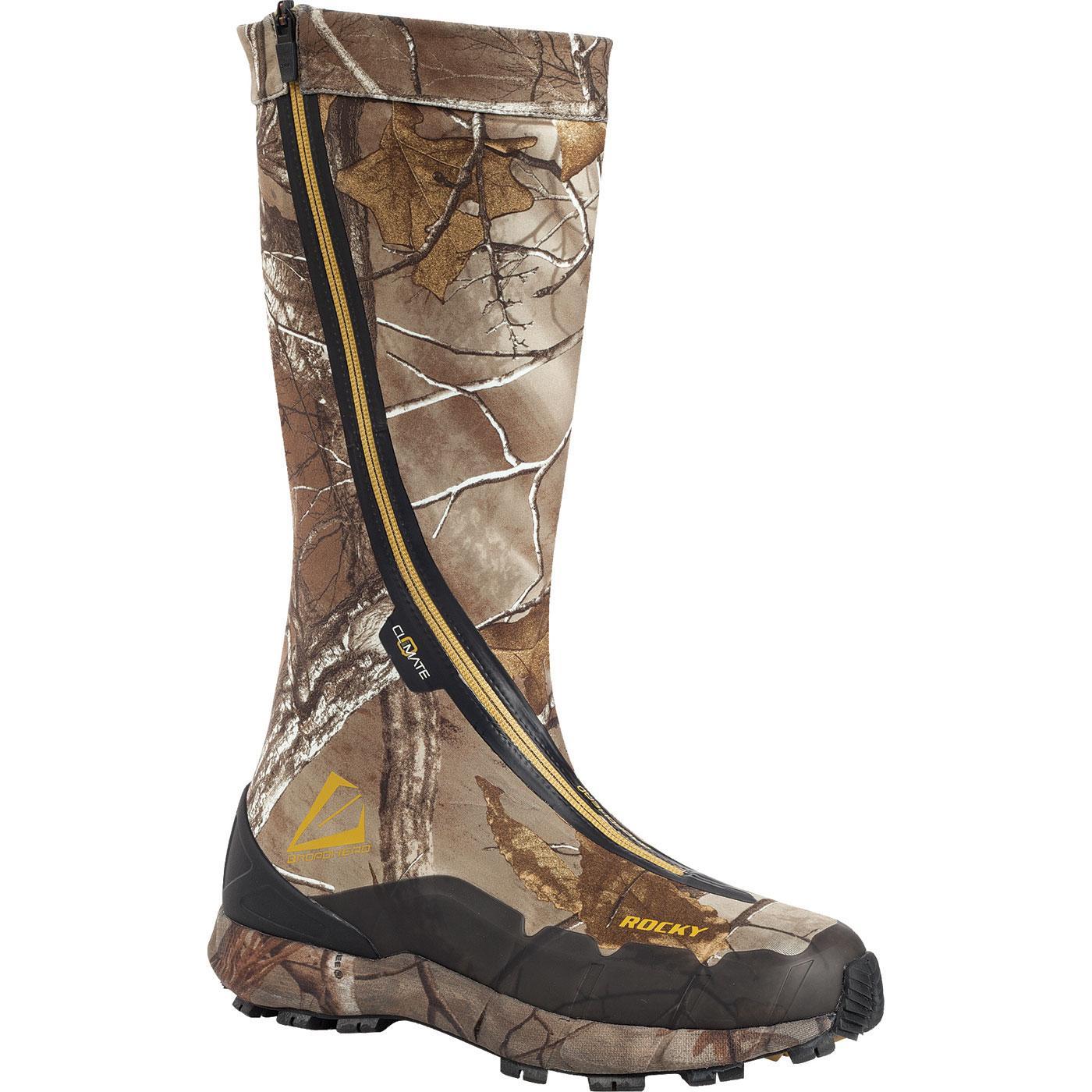 Rocky Broadhead Men S Hidden Laces Waterproof Hunting Boot