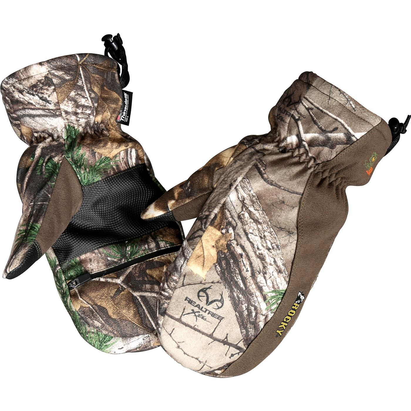 Rocky Prohunter Insulated Zip Finger Camo Hunting Mittens
