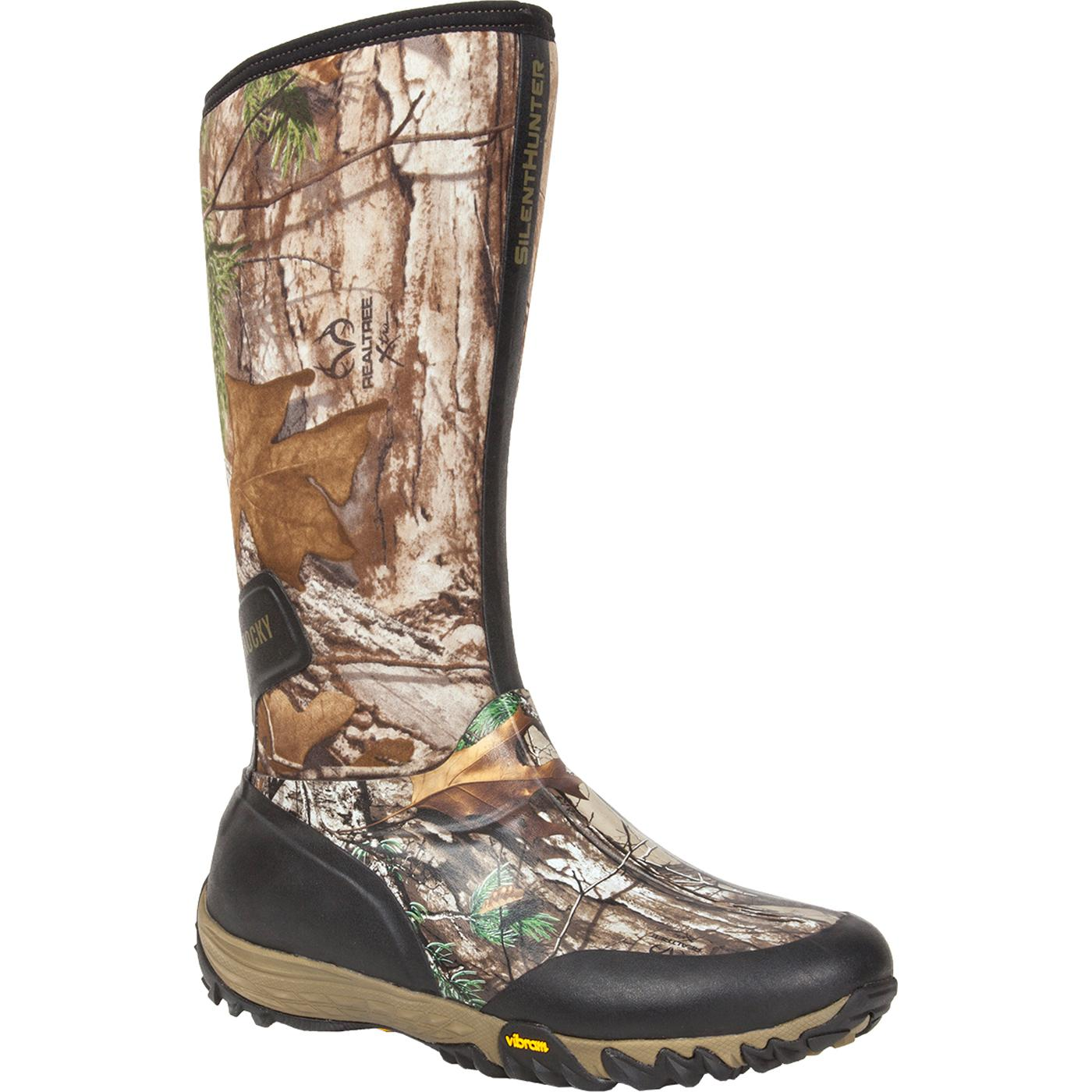 Rocky silenthunter waterproof 600g insulated rubber outdoor boot large
