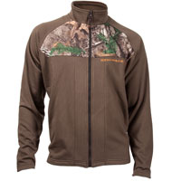 Rocky Full Zip Fleece Jacket, DARK BROWN, medium