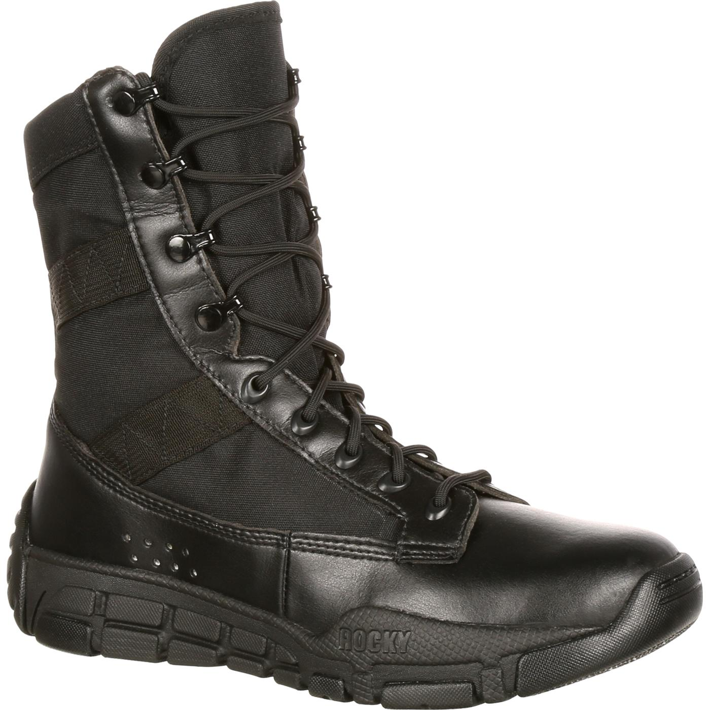 Rocky C4t Men S Military Inspired Black Duty Boots Ry008