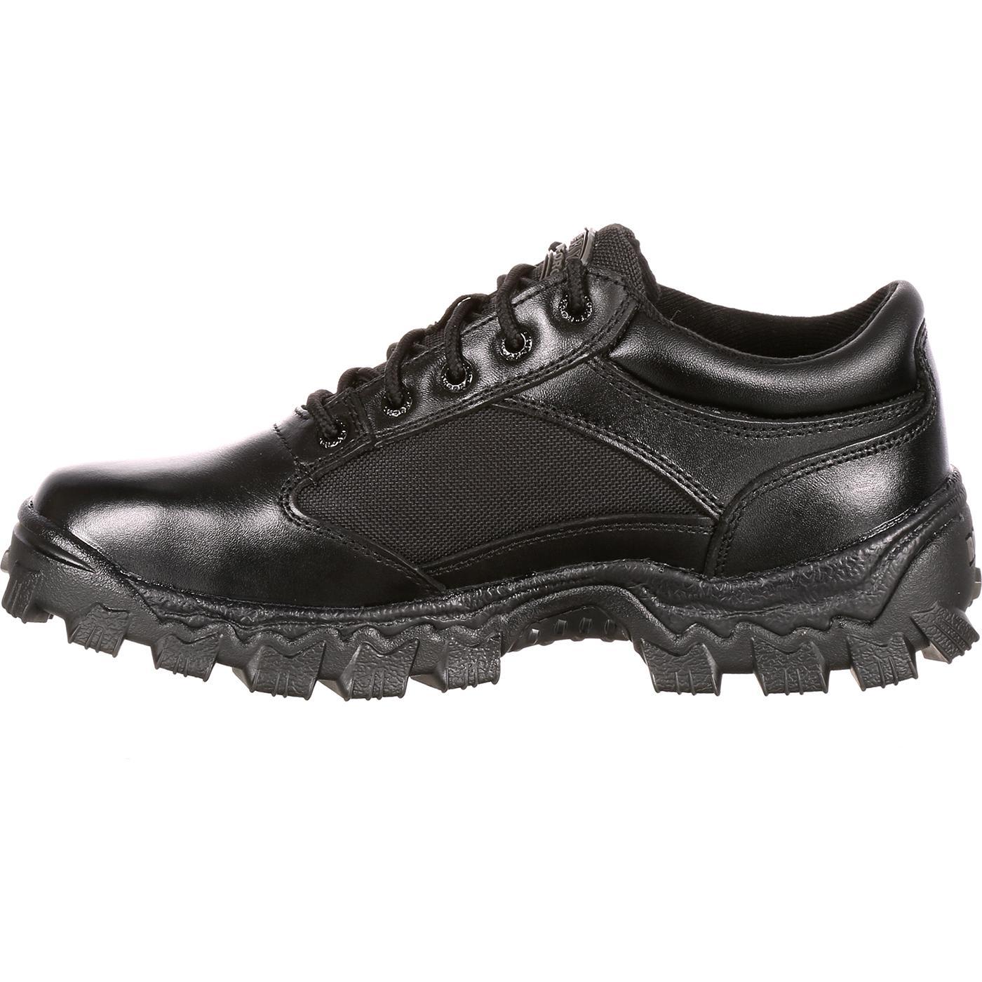 Rocky Alphaforce Men S Black Duty Oxford Shoe Fq0002168
