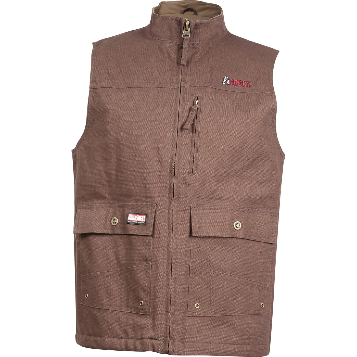 Ww00002 Rocky Men S Worksmart Canvas Vest