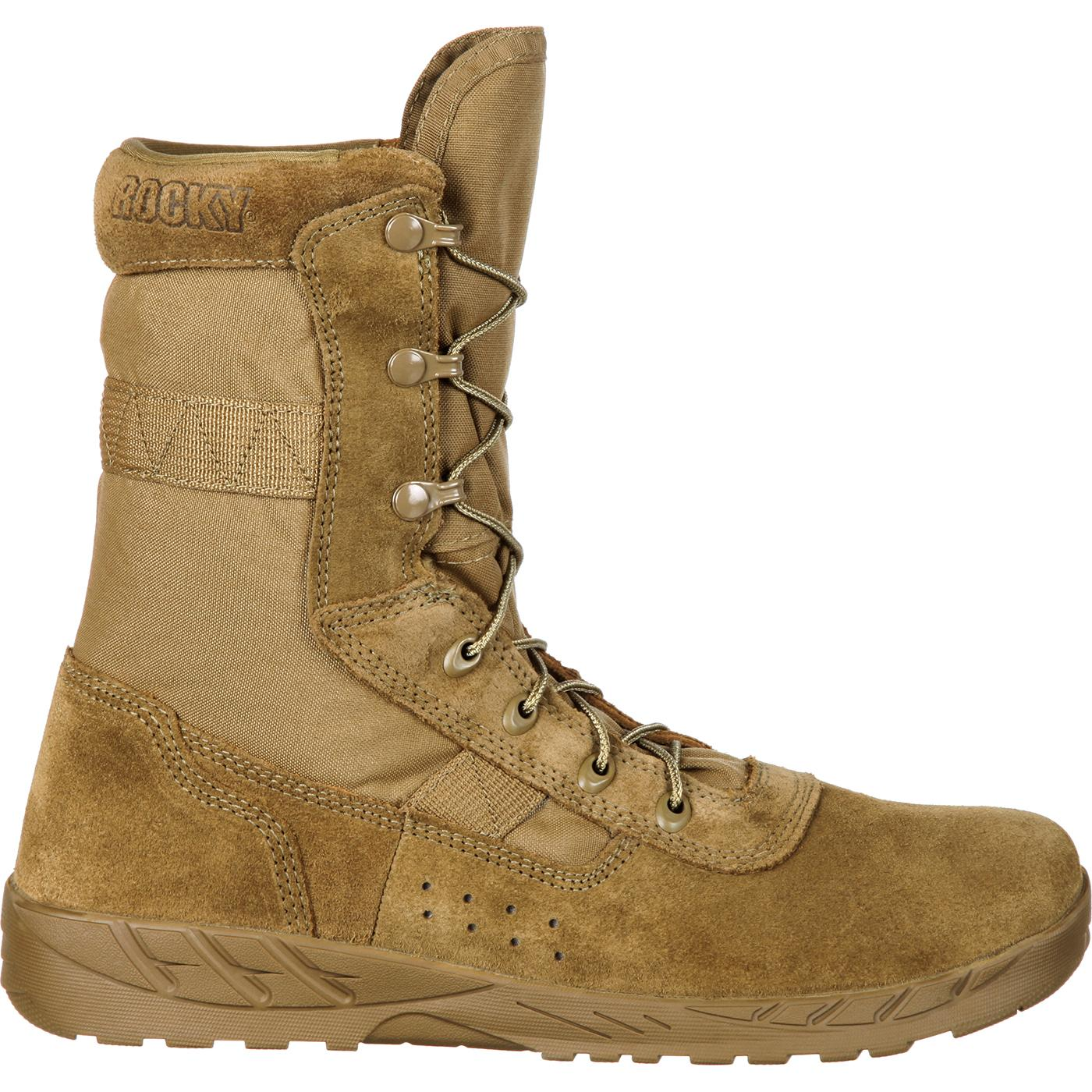 Rocky Lightweight Coyote Brown Commercial Military Boot