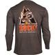 Rocky Logo Long-Sleeve T-Shirt, BROWN, small