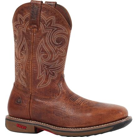 Rocky RIDE Steel Toe Western Boot, , large