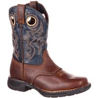 Rocky LT Big Kids' Waterproof Saddle Western Boot, , medium