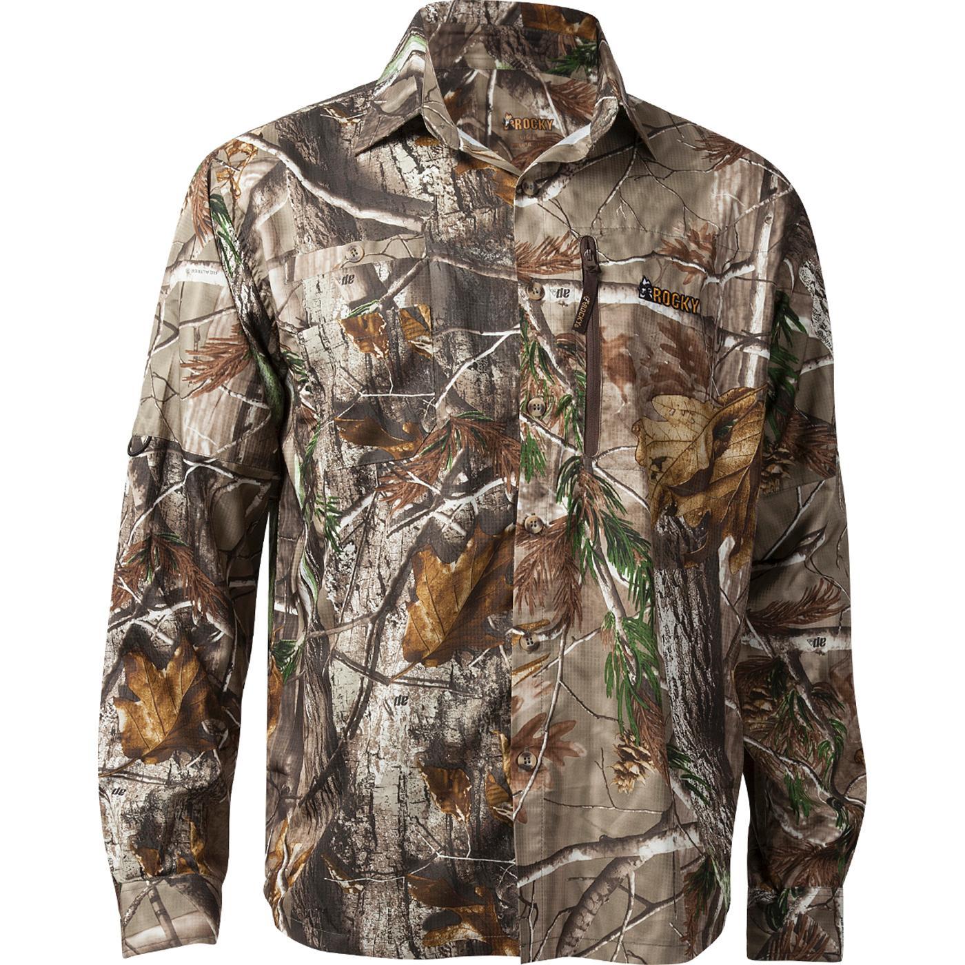 Rocky Arid Light: Men's Button Down Camouflage Long-Sleeve Shirt ...