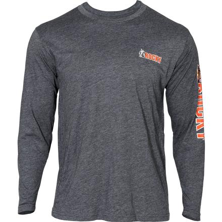 Rocky Logo Long-Sleeve T-Shirt, CHARCOAL, large
