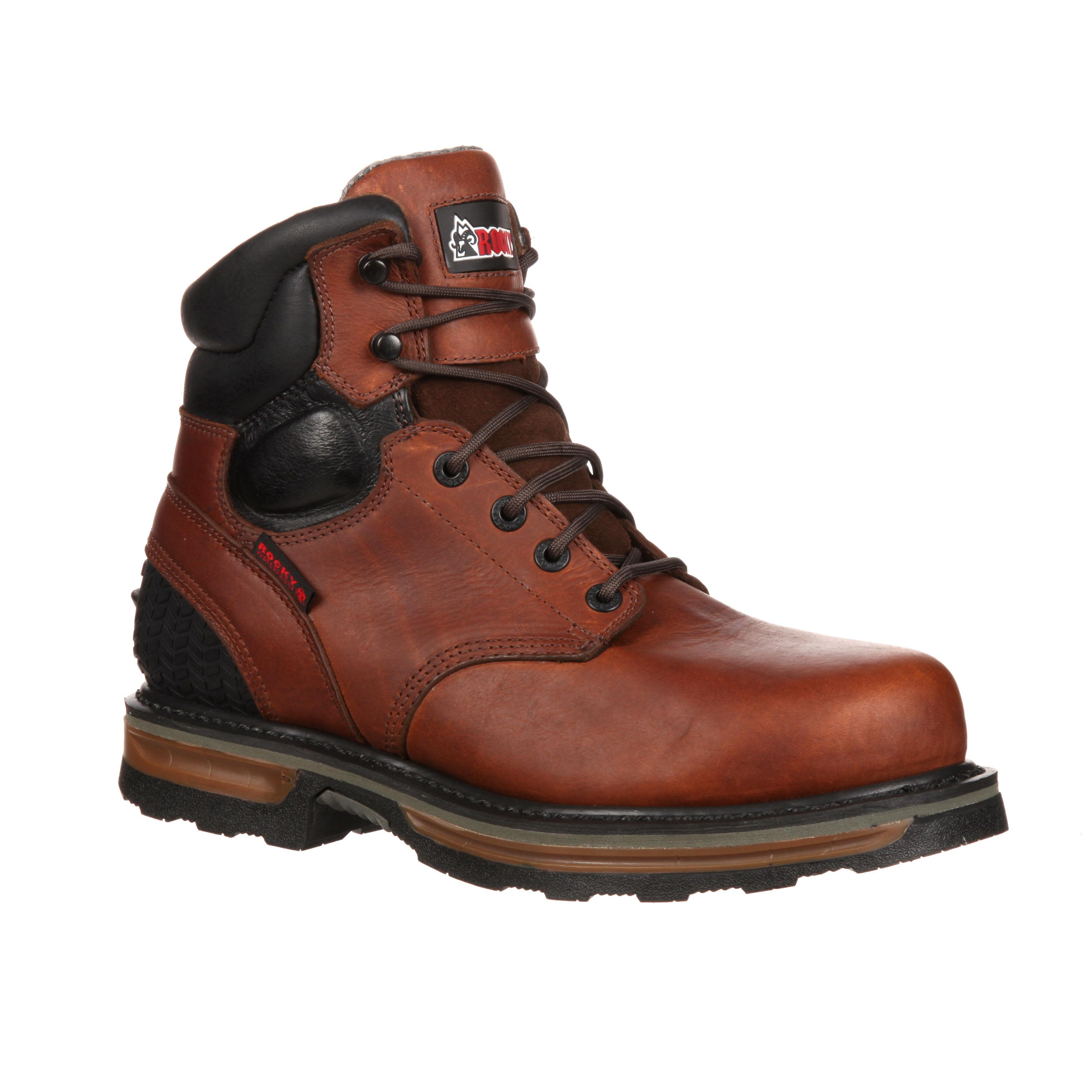 rocky elements steel waterproof steel toe work boot rkyk085