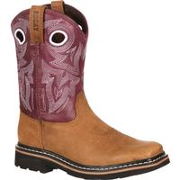 Rocky Farmstead Big Kid Western Boot, , medium