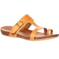 4EurSole Cool Walk Women's Toe Ring Tan Flat Sandal, , medium