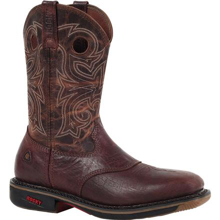 Rocky Ride Steel Toe Western Work Boot, , large