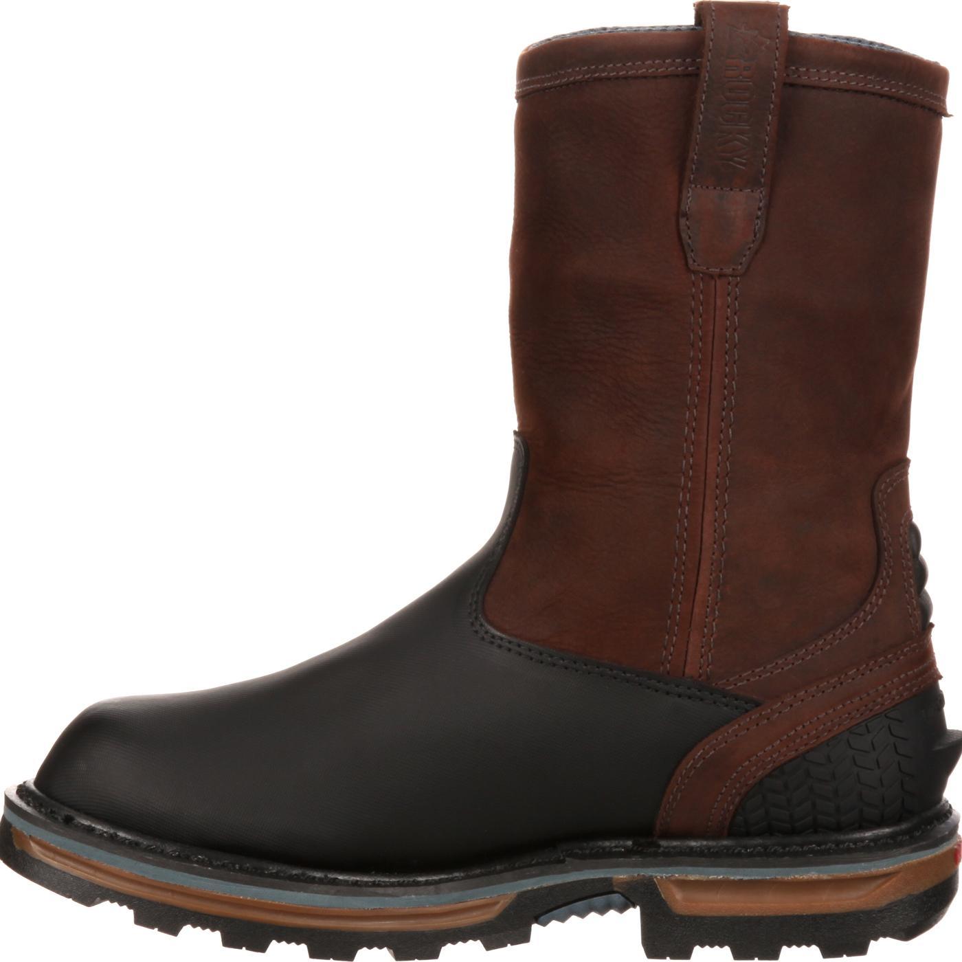 Fashionable steel toe work boots 29