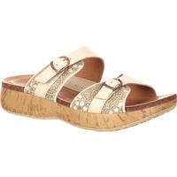 4EurSole Golden Day Women's Ivory Low Wedge Slide Sandal, , medium