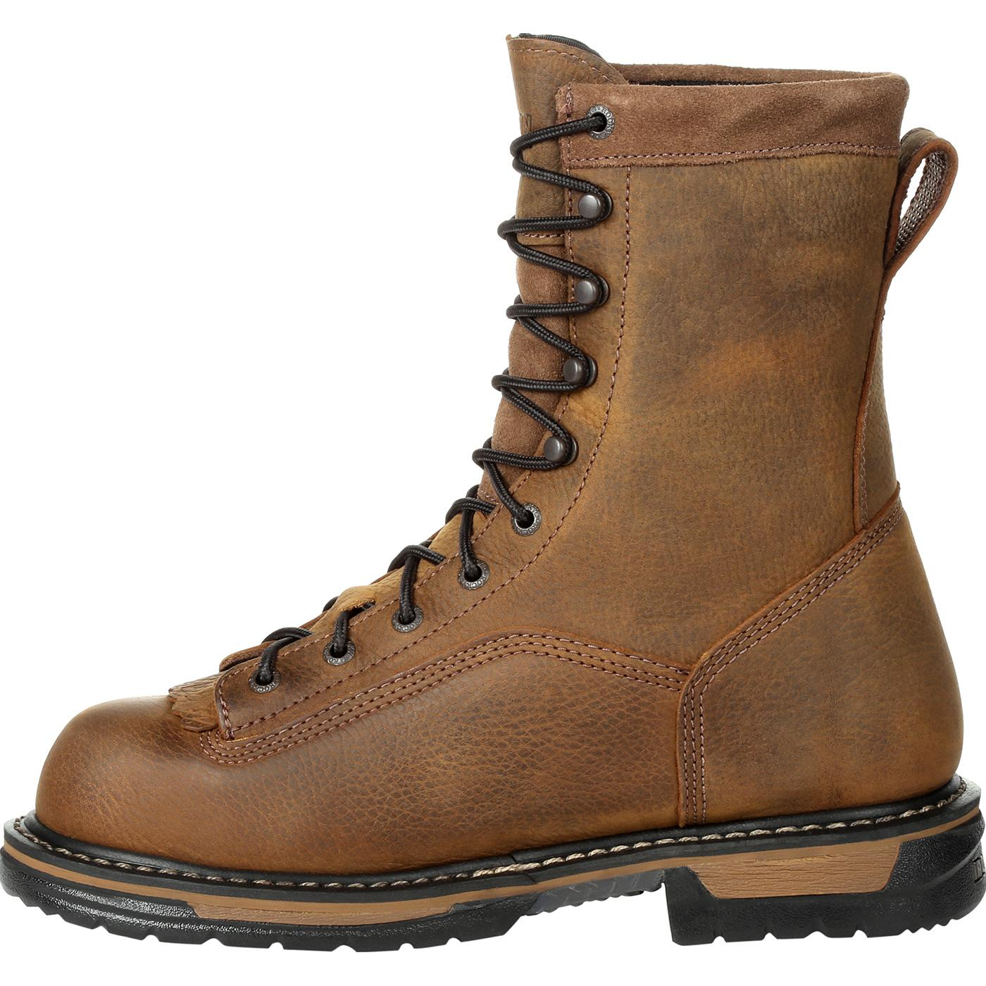 Designed for dependable outdoor protection, Rocky® boots are also built to be comfortable. Whether you are hiking, hunting or wading through murky water, there is a pair of Rocky® Work Shoes designed for the job. Men's Rocky® Work Boots feature breathable, sturdy materials, stellar traction and .