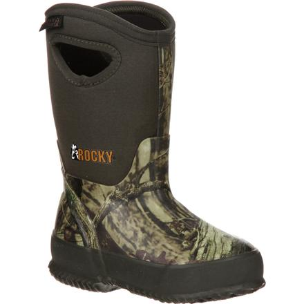 Rocky Core Big Kids' Rubber Waterproof 400G Insulated Pull-on Boot, , large
