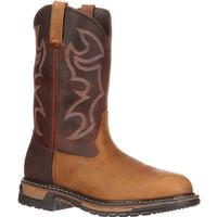 Rocky Original Ride Branson Roper Steel Toe Western Boots, , medium