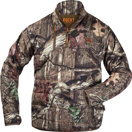 Rocky Athletic Mobility Midweight Level 2 1/4 Zip Jacket, Mossy Oak Break Up Infinity, large
