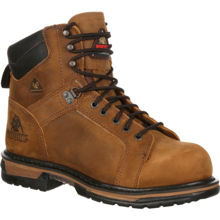 Rocky IronClad Waterproof Steel Toe Work Boots, , large