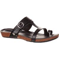 4EurSole Cool Walk Women's Toe Ring Black Flat Sandal, , medium
