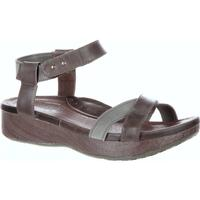 4EurSole Gentle Touch Women's Dusty Olive Low Wedge Ankle Strap Sandal, , medium