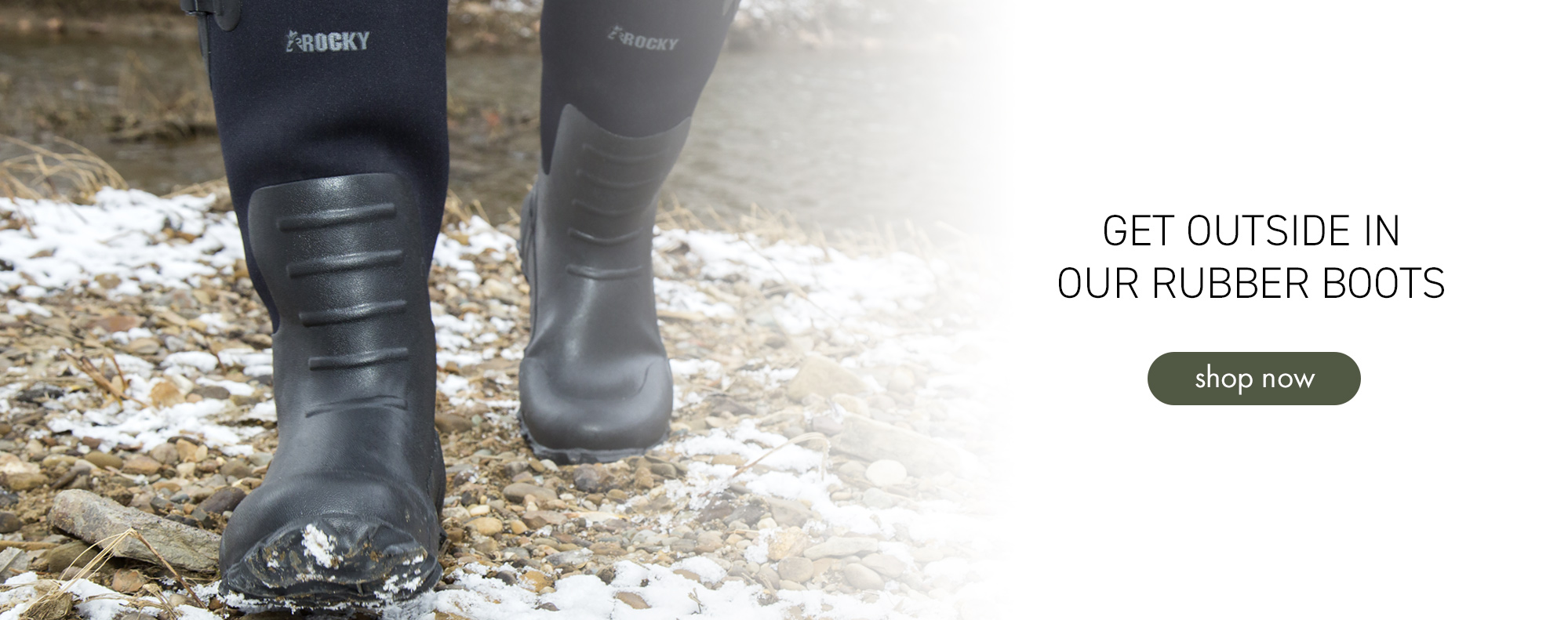 Get outside in our rubber boots. Shop now.
