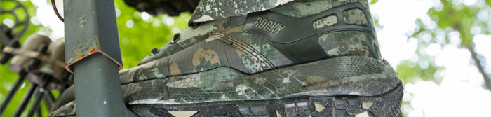 camouflage boots, camo boots, rocky hunting boots