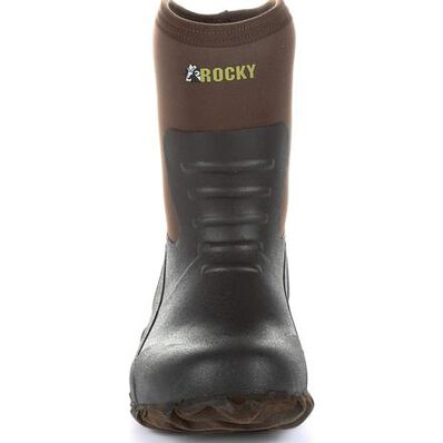 Rocky Core Chore Brown Rubber Outdoor Boot, , large
