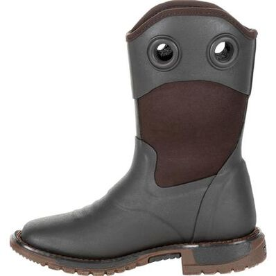 Rocky Big Kid's Rubber Western Boot, , large