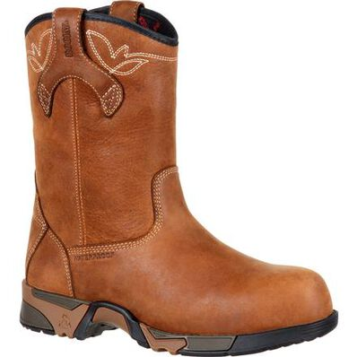 Rocky Aztec Women's Composite Toe Waterproof Work Pull-on Boot, , large