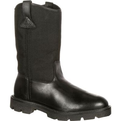 Rocky Warden Pull-On Wellington Public Service Boot, , large