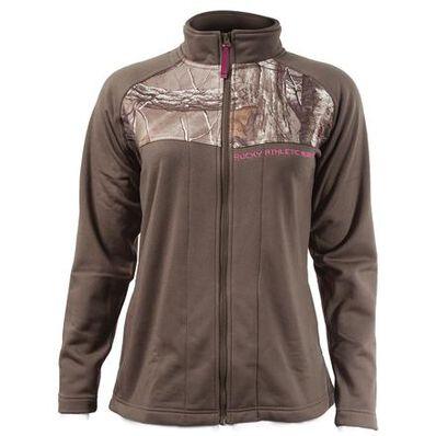 Rocky Women's Full Zip Fleece Jacket, DARK BROWN, large