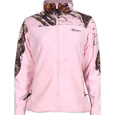 Rocky SilentHunter Women's Fleece Jacket, Mo Pink Camo, large
