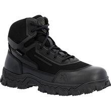 """Rocky Alpha Tec 6"""" Black Side Zip Waterproof Public Service Boot"""