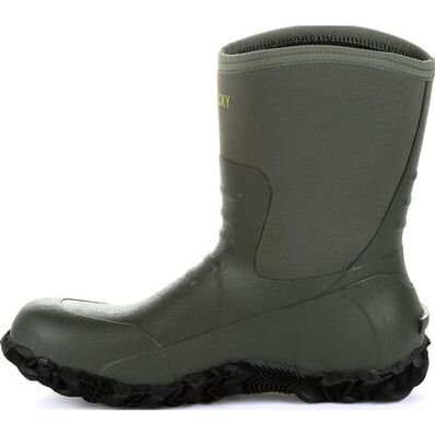 Rocky Core Chore Olive Rubber Outdoor Boot, , large