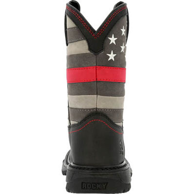 Rocky Red Line Big Kid Western Boot, , large